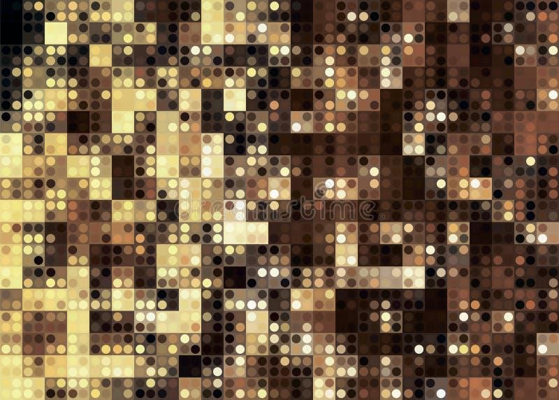 金黄新年抽象背景弄脏了诗歌选的光 向量例证