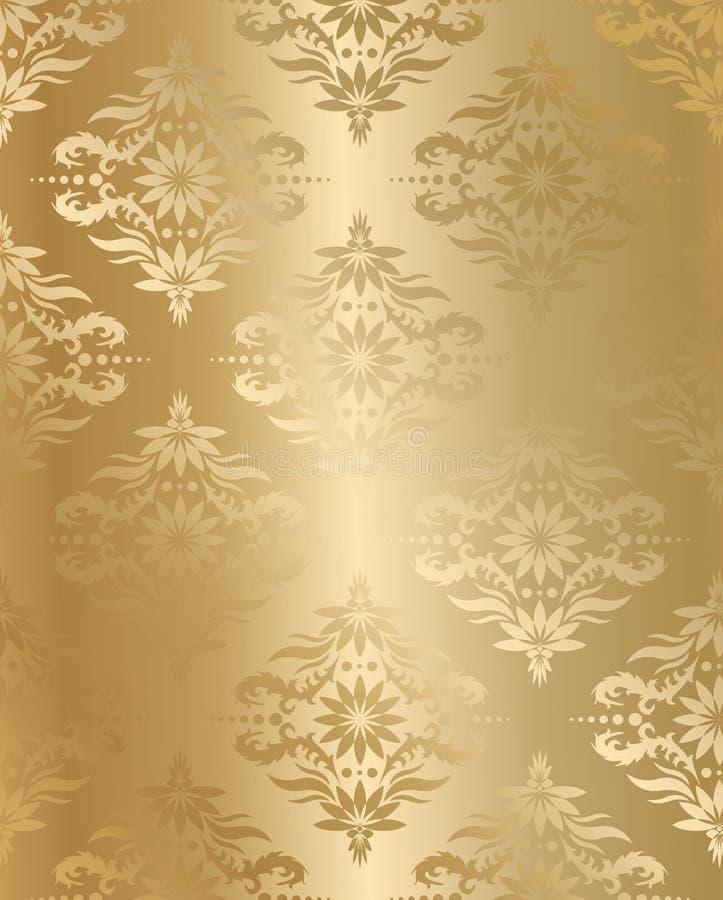 金黄无缝的丝绸向量 向量例证