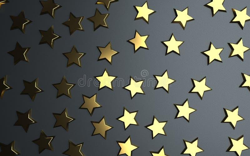 金黄星对估计 皇族释放例证