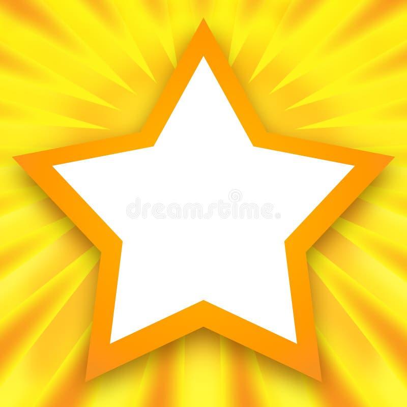 金黄星形框架 向量例证
