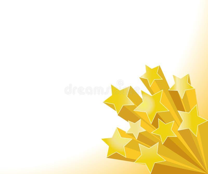 金黄星形 向量例证