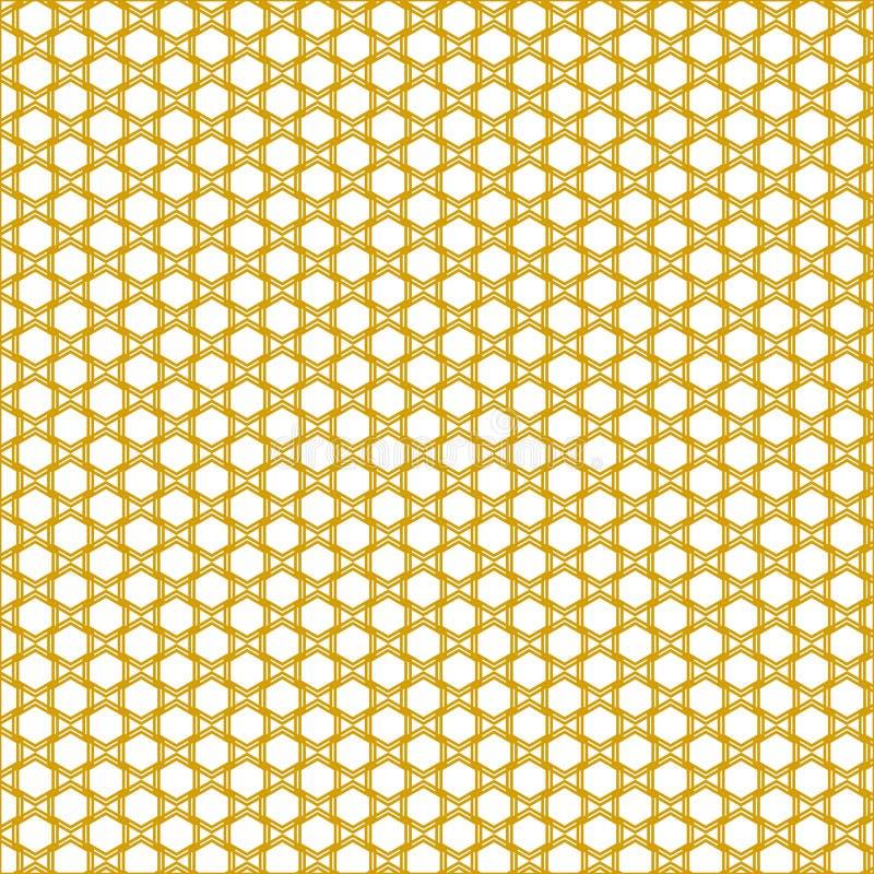 金黄晴朗的蜂窝样式 库存例证
