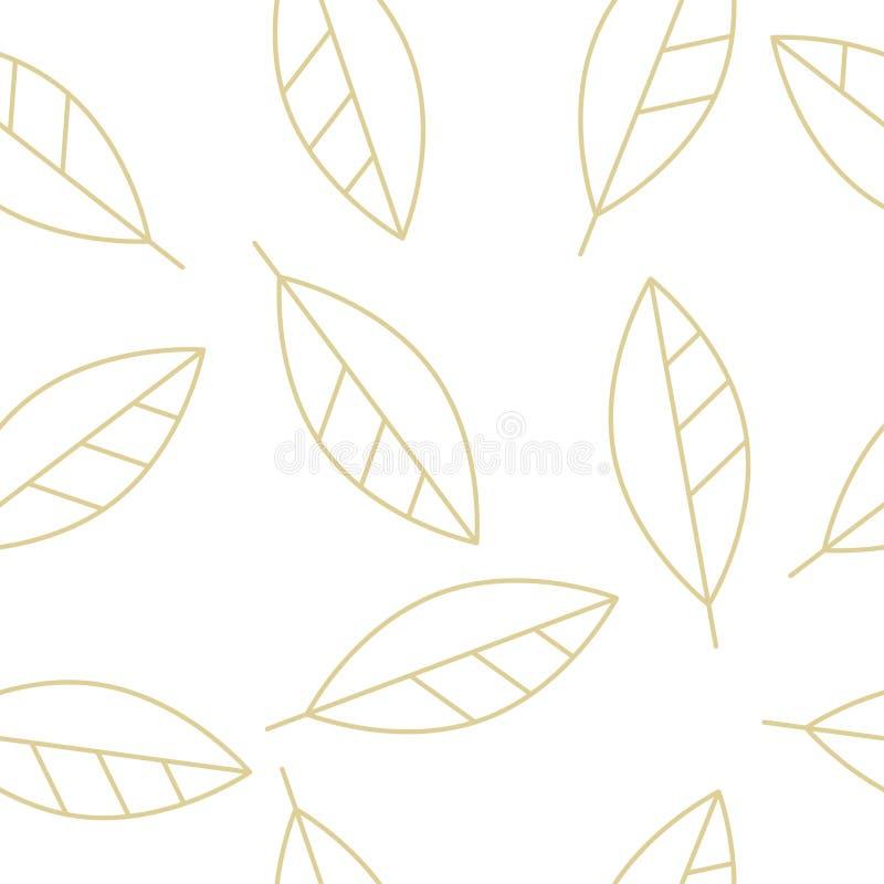金黄月桂树叶子 皇族释放例证