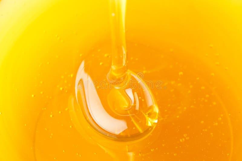 金黄有机蜂蜜 图库摄影