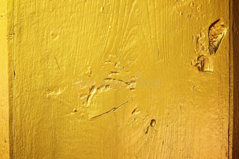 金黄木纹理 库存例证