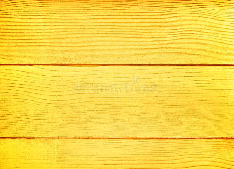 金黄木背景,在水平线样式的空白的板条墙壁纹理 免版税图库摄影