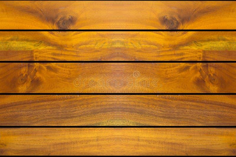 金黄木背景,板条或者墙壁纹理 库存照片
