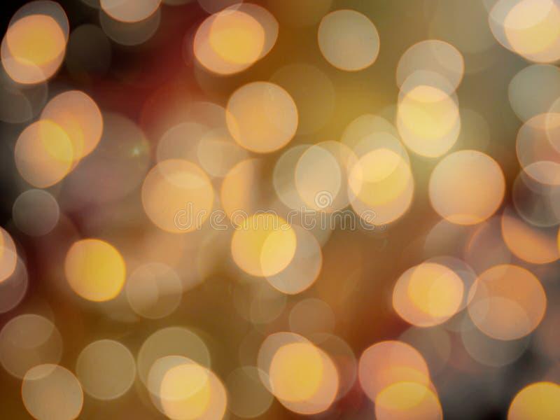 金黄桔子被弄脏的欢乐党光发光的被弄脏的抽象背景 免版税库存照片