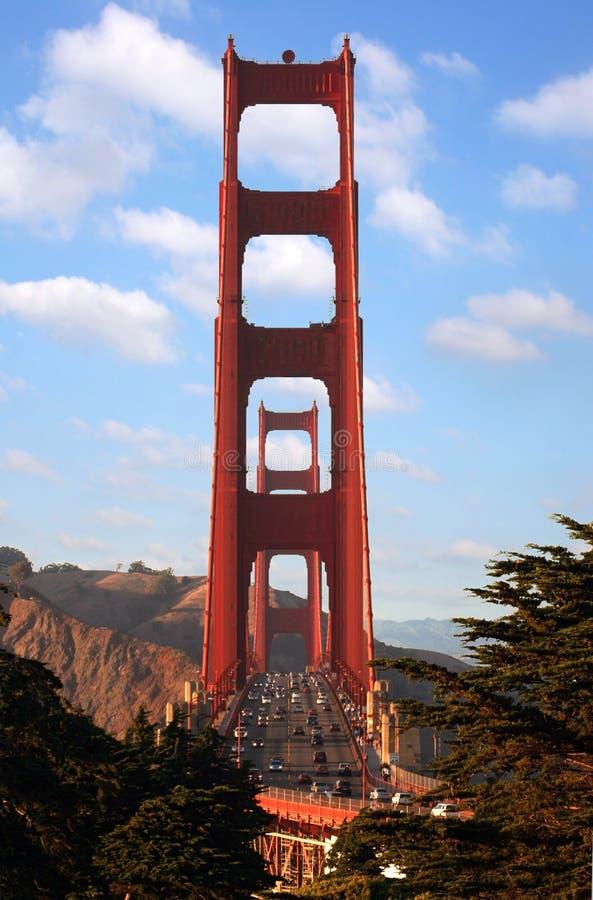 金黄桥梁的门 图库摄影