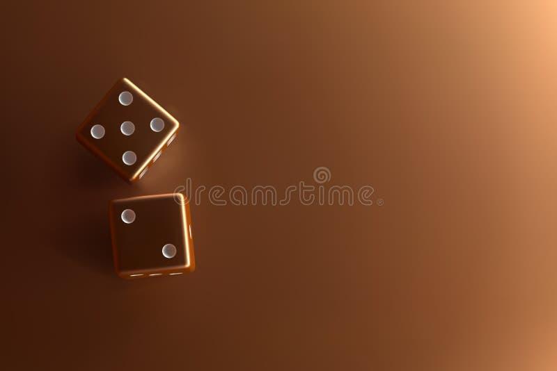 金黄模子顶视图  在金背景的赌博娱乐场模子 顶视图赌博娱乐场与地方的模子概念文本的 皇族释放例证