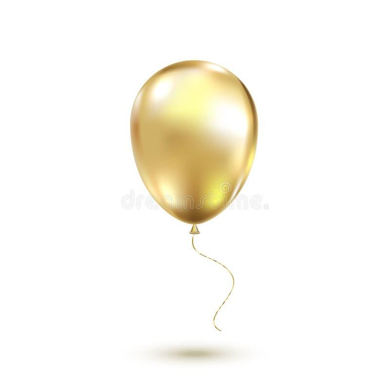 金黄气球 也corel凹道例证向量 库存例证