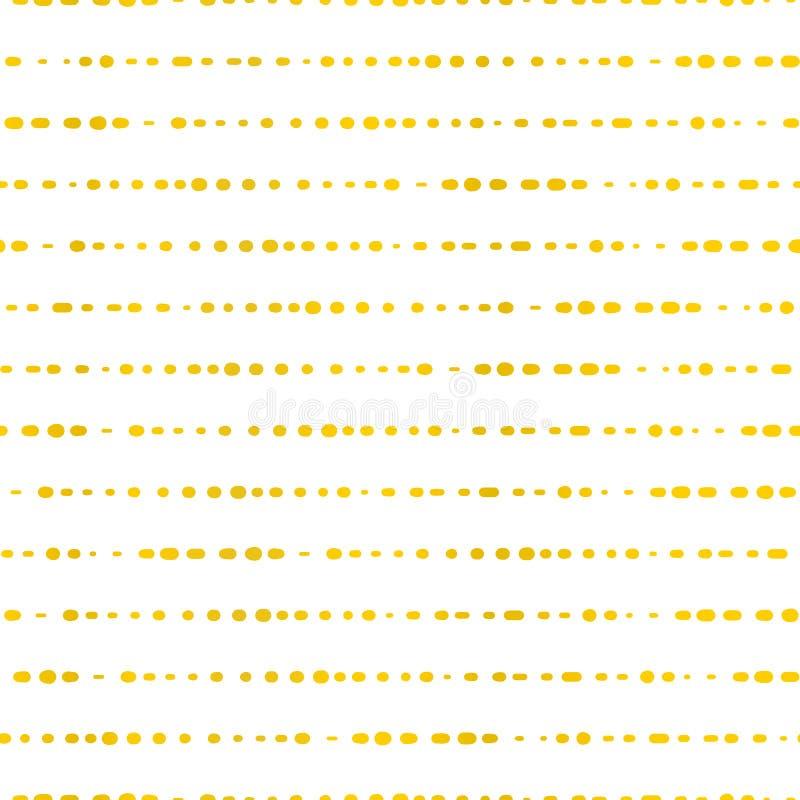 金黄水平线加点了 背景无缝的向量 在白色纹理的经典和典雅的金箔 伟大为婚礼, 向量例证