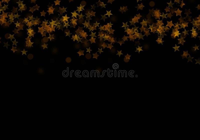 金黄流星,闪烁闪闪发光元素  向量例证