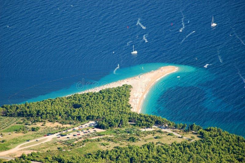 金黄海角,克罗地亚 免版税库存图片