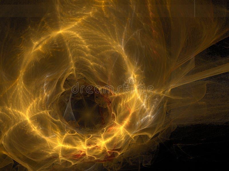 金黄环形空间 向量例证