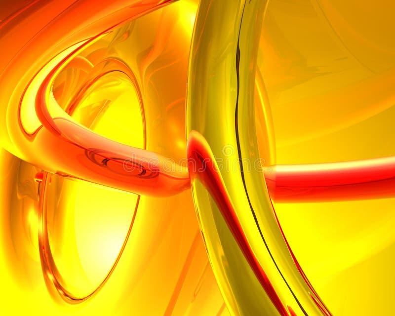 金黄环形 向量例证