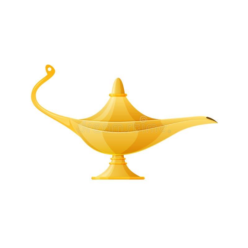 金黄现实不可思议的灯,不可思议的东方阿拉伯灯用杜松子酒 皇族释放例证