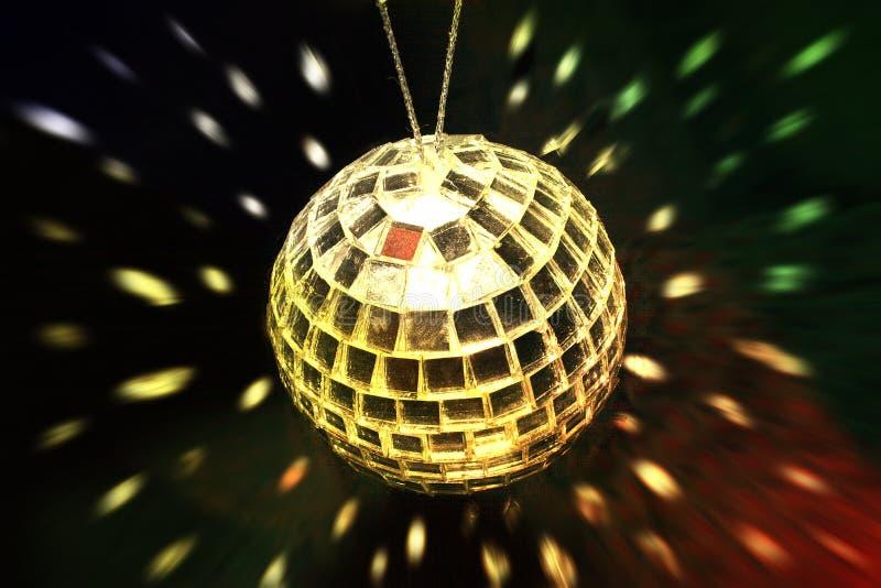 金黄球的迪斯科 免版税库存照片