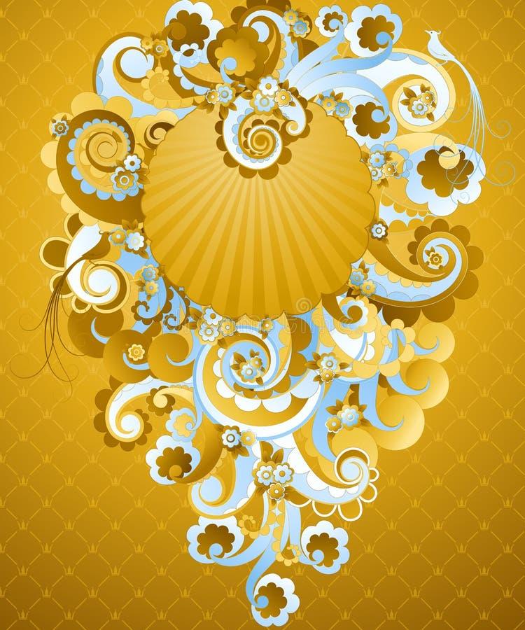 金黄甜点漩涡 向量例证