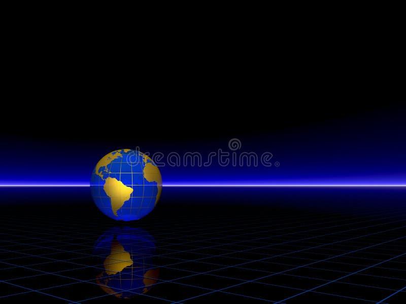 金黄的地球 皇族释放例证