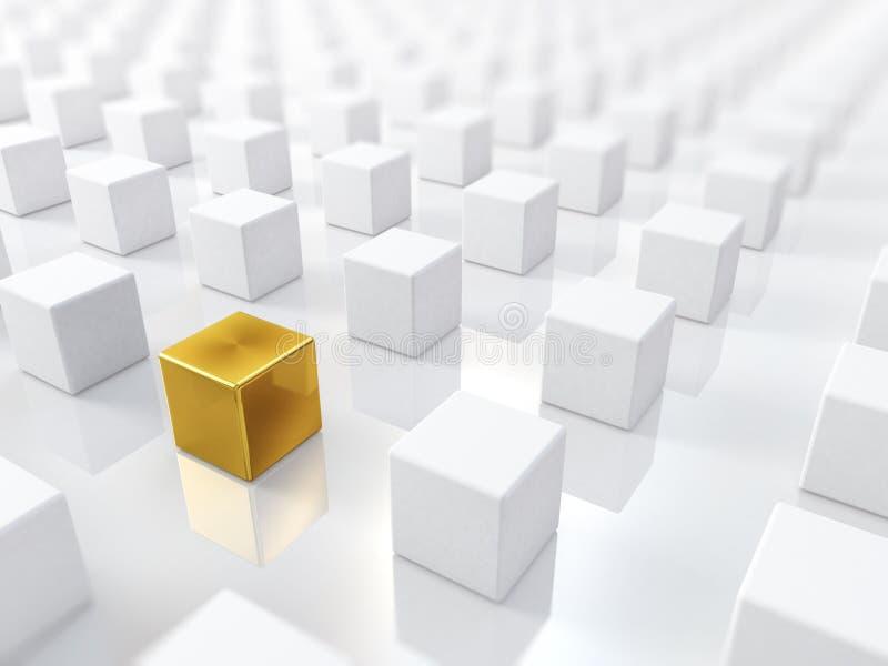 金黄的多维数据集 库存例证