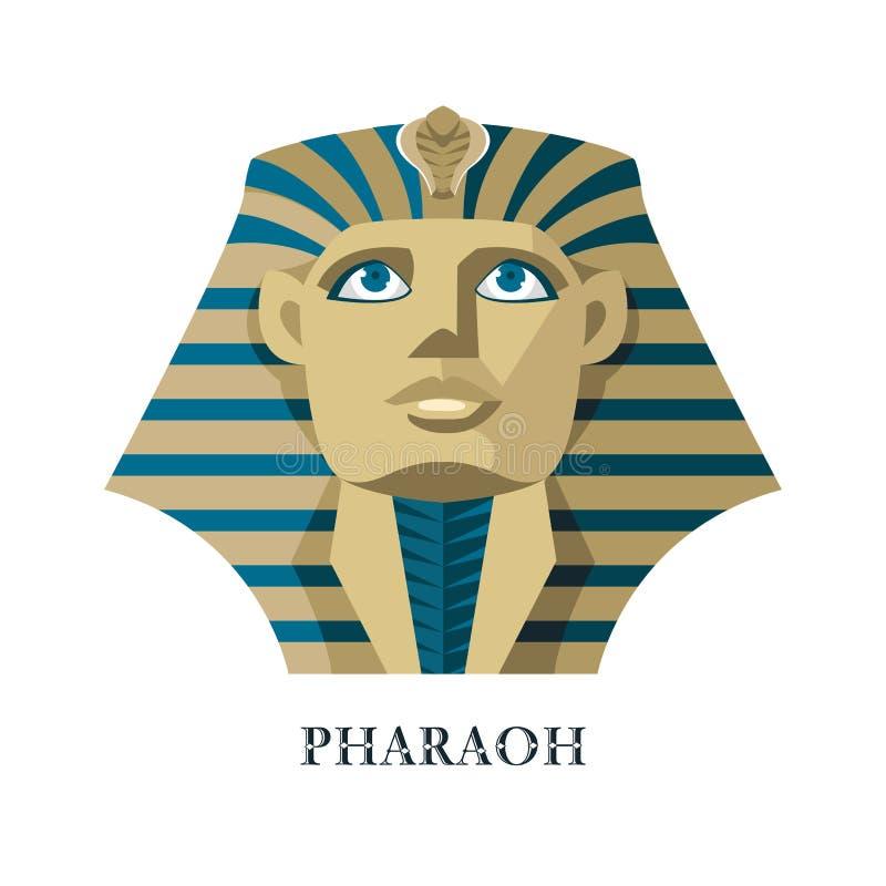 金黄的头饰的埃及法老王 库存例证