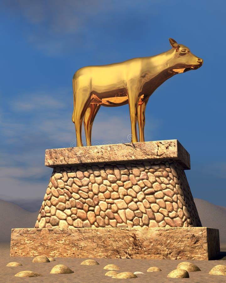 金黄的小牛 免版税库存图片