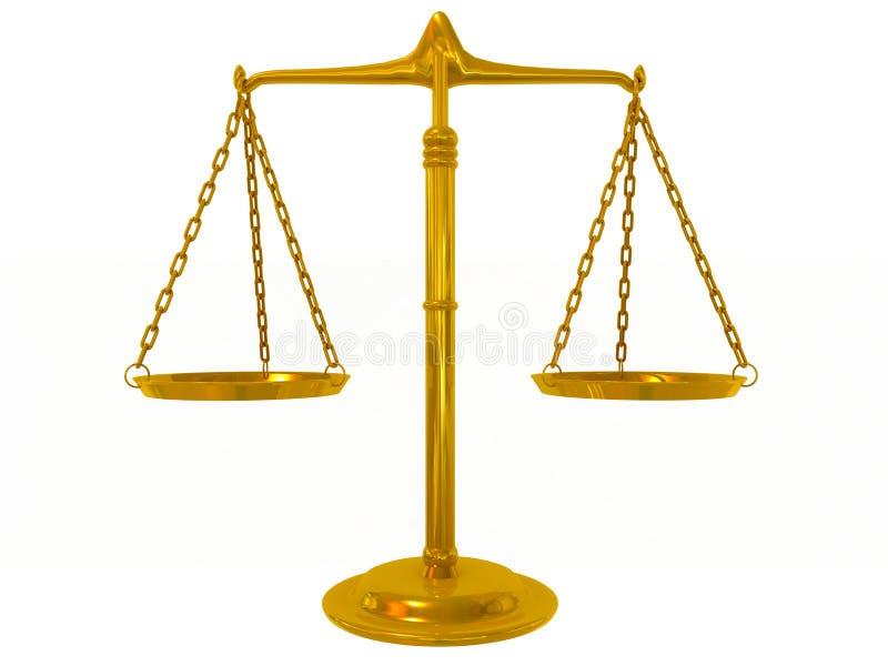 金黄的平衡 皇族释放例证