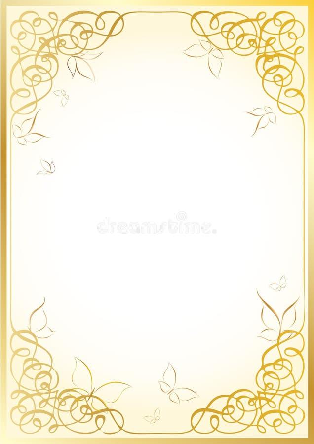 金黄的框架 皇族释放例证