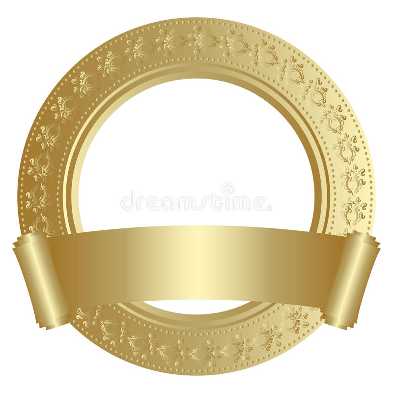 金黄的框架 向量例证