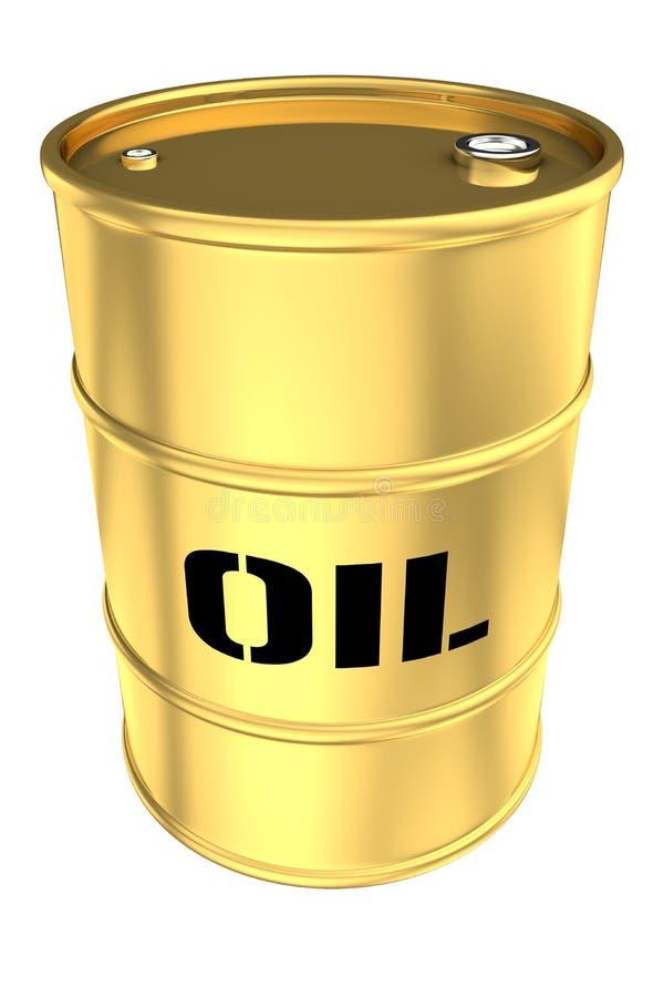 金黄的桶 皇族释放例证