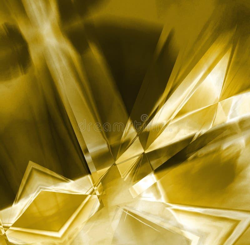 金黄的水晶 库存例证