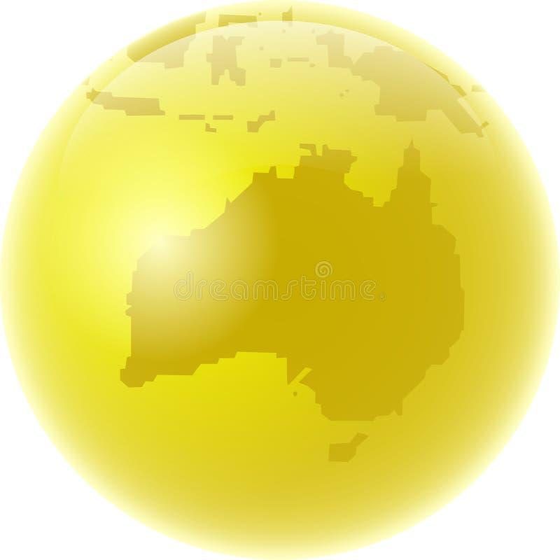 金黄的澳洲 库存例证