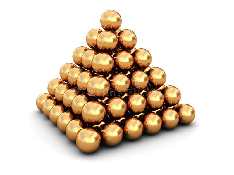 金黄的球 皇族释放例证