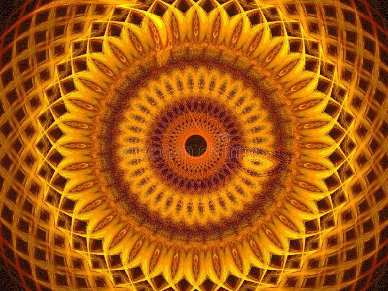 金黄的眼睛 向量例证