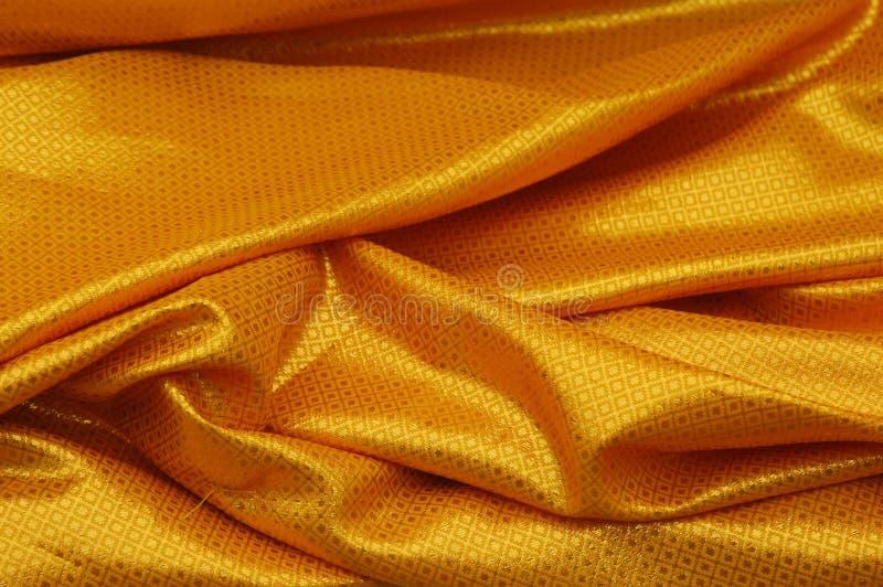 金黄的窗帘 免版税图库摄影