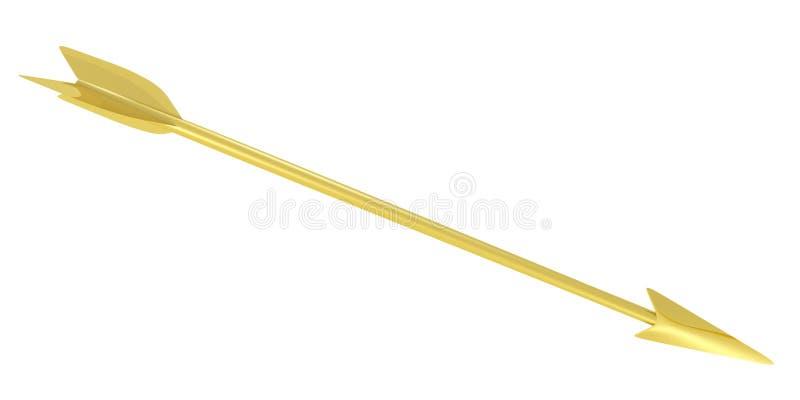 金黄的箭头 皇族释放例证