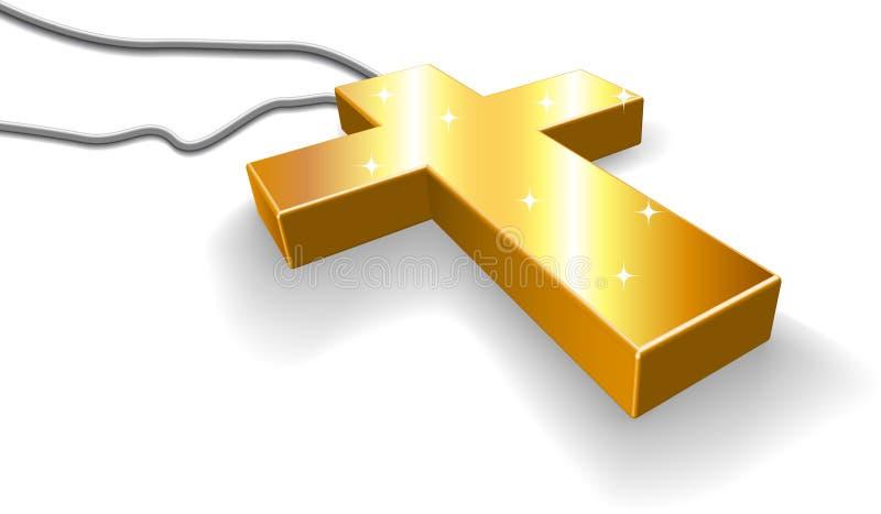 金黄的耶稣受难象 向量例证