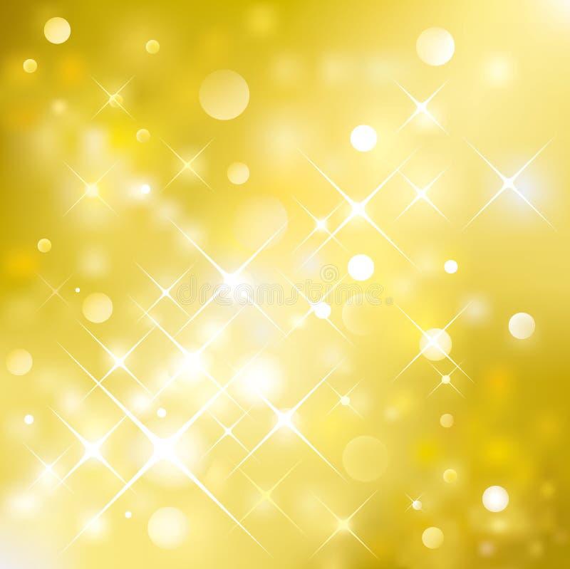 金黄的背景 皇族释放例证
