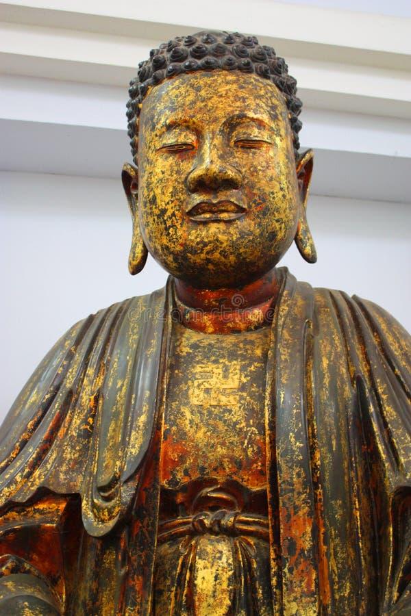 金黄的菩萨 图库摄影