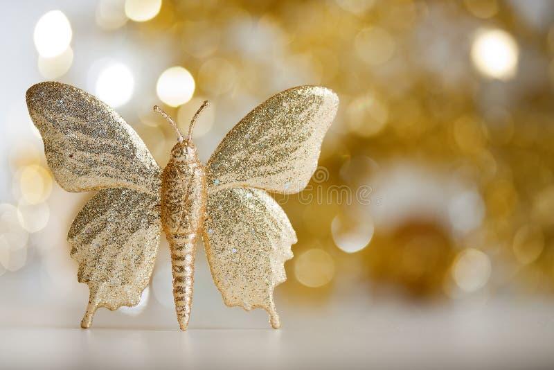 金黄的蝴蝶 库存照片