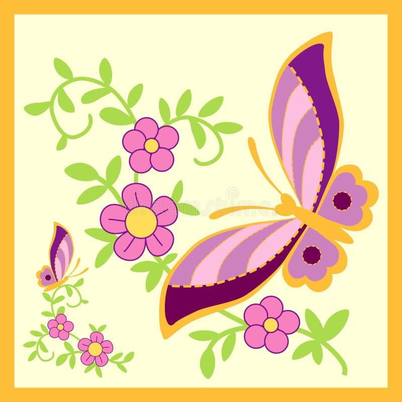 金黄的蝴蝶 向量例证