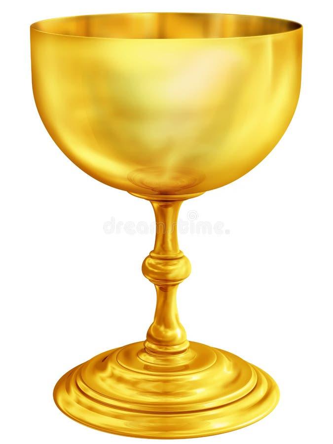 金黄的酒杯 皇族释放例证