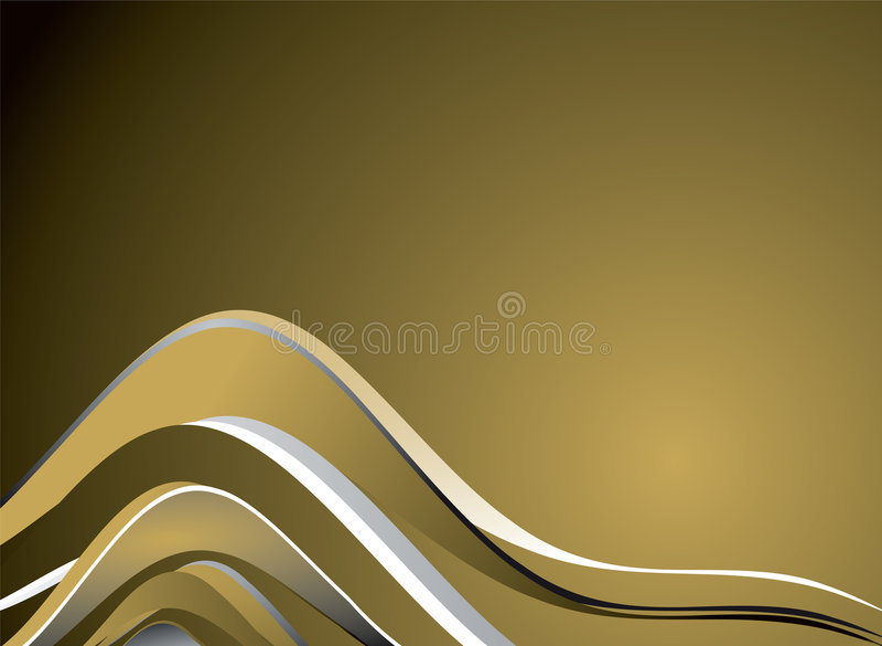 金黄的釉 库存例证