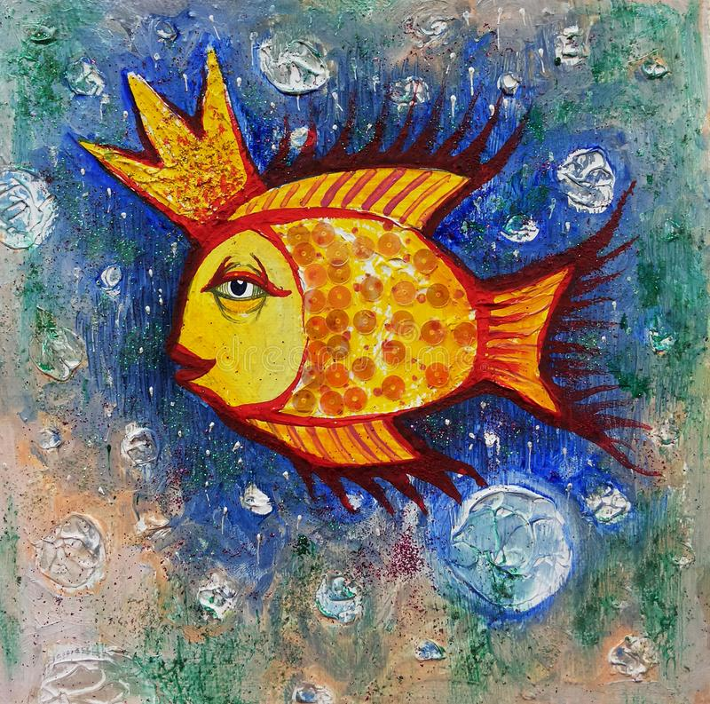 金黄的鱼 例证 库存例证