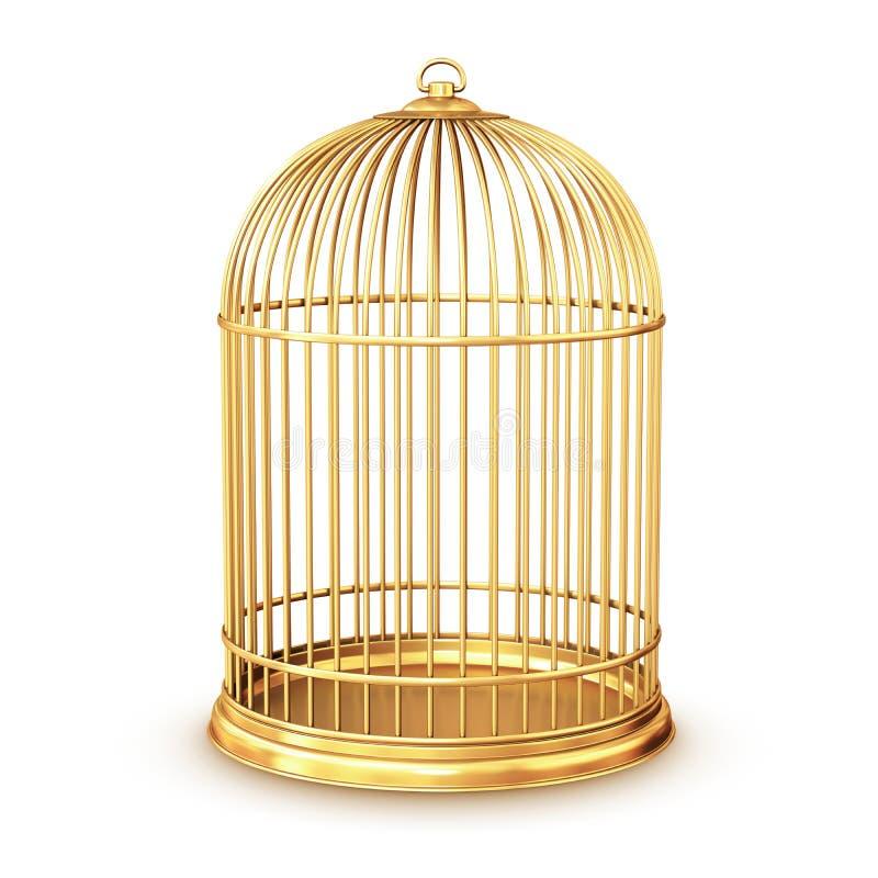 金黄的鸟笼 库存例证