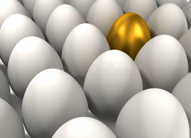 金黄的鸡蛋 向量例证