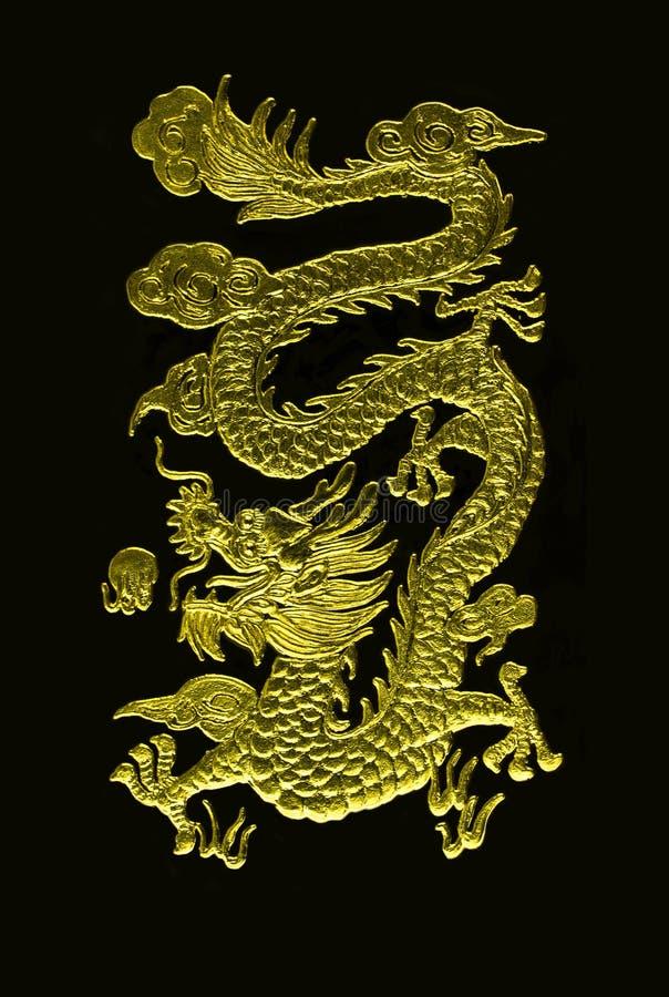 金黄的龙 免版税库存图片