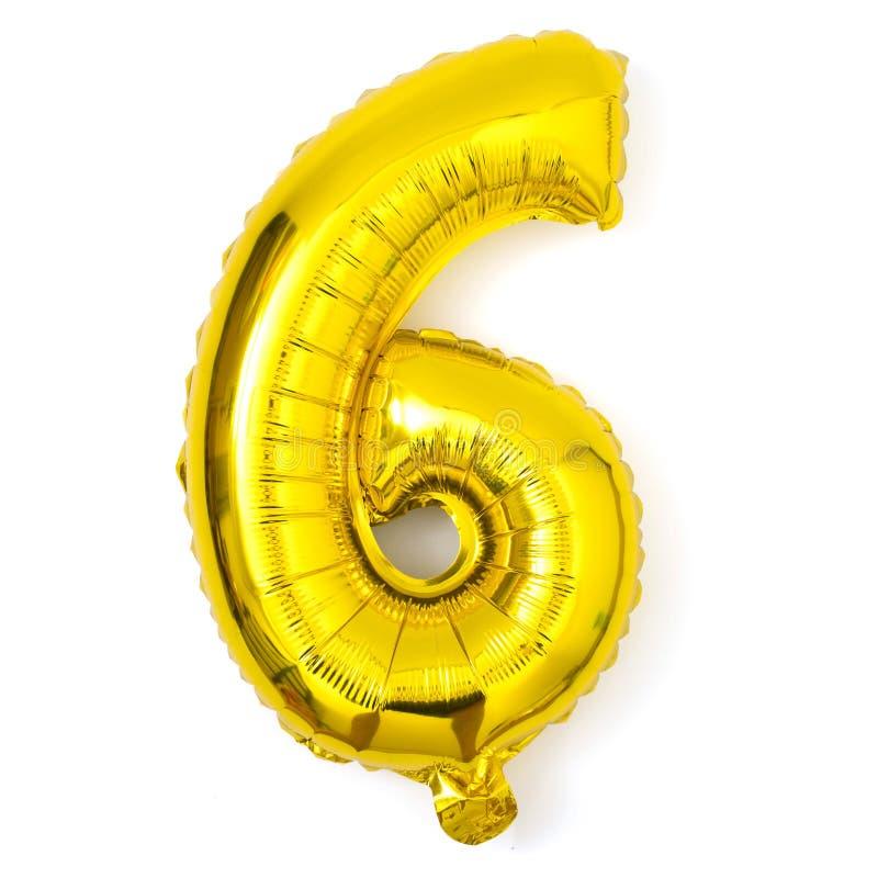 金黄第九气球党装饰周年 免版税图库摄影