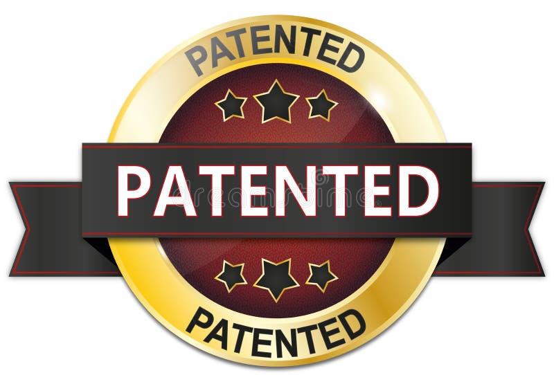 金黄红色与星的给予专利的徽章 皇族释放例证